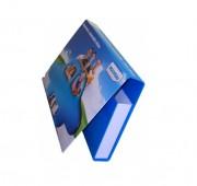 Porte document en carton sur mesure - Fermeture du rabat par pastille velcro
