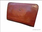 Porte-document en cuir rigide - Fermeture zippée - Une poche plate