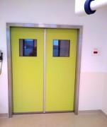 Porte étanche à l'air pivotante - Pour salle à atmosphère contrôlée
