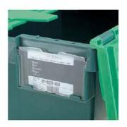 Porte étiquette en K résine pour bacs - 00473
