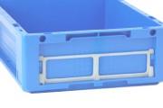 Porte étiquette Eureka 232 x 102 mm - Dim : L.232 x lg.102 x H.9 mm - Matière : Polycarbonate.