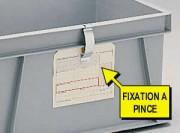 Porte étiquette métallique clipsable - Porte étiquette clip