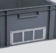 Porte étiquette pour bacs Normes Europe - OPE39
