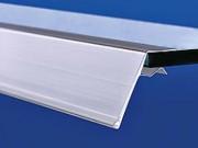 Porte-étiquettes clipsable - Porte-étiquettes pour tablettes (bois, verre, etc. ...)