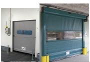 Porte industrielle à enroulement - Fonctionnement temporisé