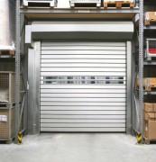 Porte industrielle à enroulement rapide - Conforme aux normes EN 13241-1