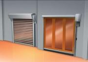 Porte industrielle à ouverture rapide - Vitesse :  2,5 m/s à l'ouverture