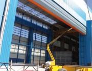 Porte industrielle de grandes dimensions - Vitesse d'ouverture : De 0,2 à 0,5 m/s
