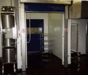 Porte industrielle en inox - En acier inoxydable  -  Avec commandes