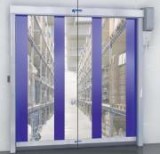 Porte industrielle interieure alu - Vitesse d'ouverture/fermeture : 2.2/0.9 m/s