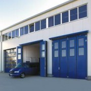 Porte industrielle pliante en acier - KSM