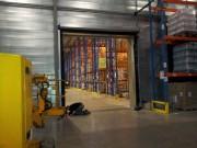 Porte industrielle rapide à usage intensif - Efficace contre contre le vent, la pluie, la neige et la poussière
