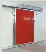 Porte isotherme coulissante pour chambre froide - En tôle laquée polyester ou inox pour l'alimentaire