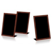 Porte menu ardoise de table 1 face - Dimensions (cm) : 15 x 11,5 x 23