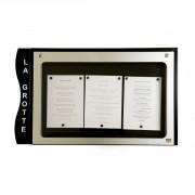 Porte menu cevennes 3 pages