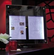 Porte menu éclairage LED