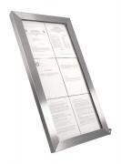 Porte menu en inox à affichage LED