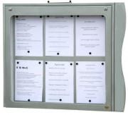 Porte menu extérieur mural - Capacité : 6 pages - Dimensions d'affichage (cm) : 73 x 65