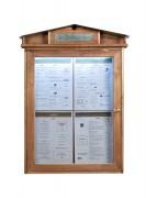 Porte menu LED en bois - Format : 4 pages A4 - Fixation : murale ou sur pied