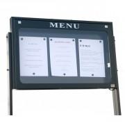 Porte menu lubéron - 3 pages