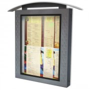 Porte menu lumineux 2 pages - Dimensions : 90x57x10 cm