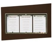Porte-menu mural horizontal extérieur - Capacité : 2 ou 3 pages - Modèle : Mural à simple face