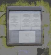 Porte-menu mural inox - Taille : 6 feuilles A4 - Dimensions : 700x700x35mm
