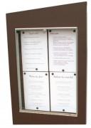 Porte-menu mural vertical extérieur - Capacité : 4 ou 6 pages - Modèle : Mural à simple face