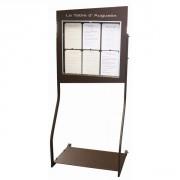 Porte menu sheffield 6 pages A4 - Capacité : 6 pages A4