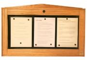 Porte menu vitrine murale - Capacité : 3 pages - Modèle : Mural à simple face