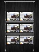 Porte Multi-affiches immobilier - Dimensions : L 940mm, H 350mm (panneau)