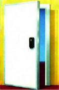 Porte pivotante isotherme positive - Bâtit fixe PVC, brise pont Thermique