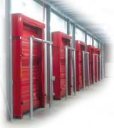 Porte rapide chambre froide - Système de repliement par ouverture souple