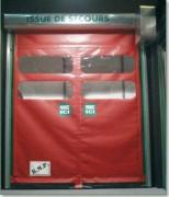 Porte rapide issue de secours - Dimensions (l x h) : 4000 x 5000 mm - Homologuée ERP