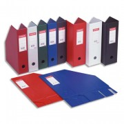 Porte-revues en PVC soudé, dos de 7 cm, bleu - Esselte