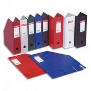Porte-revues en PVC soudé, dos de 7 cm, rouge - Esselte