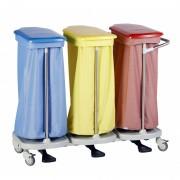 Porte-sacs Modulo 4 sacs en carré - Porte-sacs en ABS et inox.