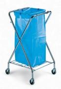 Porte sacs poubelle mobile - Dimensions porte sac (LxIxH) en cm:  62 x 60 x 103