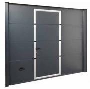 Porte sectionnelle avec portillon - Protection anti-pincement - Profil inférieur compact
