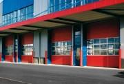 Porte sectionnelle industrielle isolée