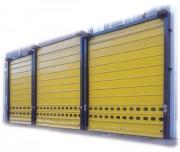 Porte souple à empilage - Résiste à des vents de plus de 100 km/h