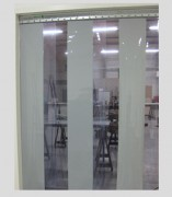 Porte souple à lanières transparentes - Lanières PVC souple grand froid et profil inox