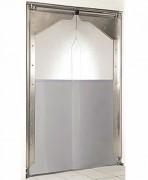 Porte souple à vantaux pvc - En PVC souple transparent