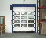 Porte souple rapide enroulable - Pression à la fermeture : 60 cm du sol