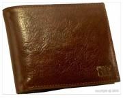 Portefeuille en cuir marron pour homme