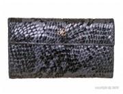 Portefeuille femme cuir motif serpent