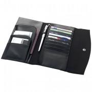 Portefeuille publicitaire personnalisable - Sac portefeuille en Microfibre - 190 gr - Noir