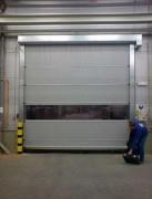 Portes à enroulement - Vitesse d'ouverture : Jusqu'à 1 m/s