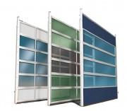 Portes sectionnelles industrielles vitrées - Réalisation sur mesure