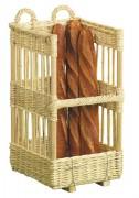 Porteuse à pain carrée - Dimensions de 40x40x70 à 40x40x80 - Osier blanc